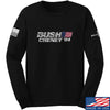 IV8888 Bush Cheney Long Sleeve T-Shirt Long Sleeve Small / Black by Ballistic Ink - Made in America USA