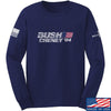 IV8888 Bush Cheney Long Sleeve T-Shirt Long Sleeve Small / Navy by Ballistic Ink - Made in America USA
