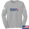 IV8888 Bush Cheney Long Sleeve T-Shirt Long Sleeve Small / Light Grey by Ballistic Ink - Made in America USA