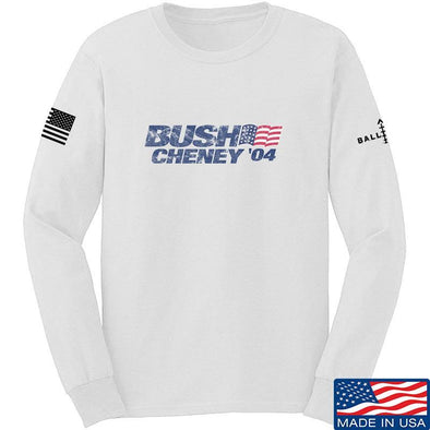IV8888 Bush Cheney Long Sleeve T-Shirt Long Sleeve Small / White by Ballistic Ink - Made in America USA