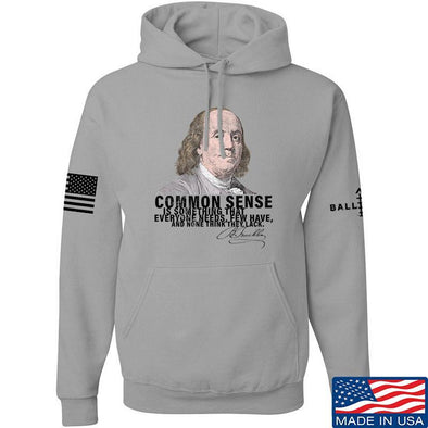 IV8888 Benjamin Franklin Common Sense Hoodie Hoodies Small / Light Grey by Ballistic Ink - Made in America USA
