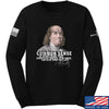IV8888 Benjamin Franklin Common Sense Long Sleeve T-Shirt Long Sleeve Small / Black by Ballistic Ink - Made in America USA