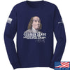 IV8888 Benjamin Franklin Common Sense Long Sleeve T-Shirt Long Sleeve Small / Navy by Ballistic Ink - Made in America USA