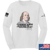IV8888 Benjamin Franklin Common Sense Long Sleeve T-Shirt Long Sleeve Small / White by Ballistic Ink - Made in America USA