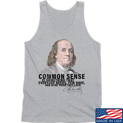 IV8888 Benjamin Franklin Common Sense Tank Tanks SMALL / Light Grey by Ballistic Ink - Made in America USA
