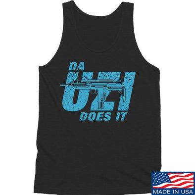 IV8888 Da Uzi Does It Tank Tanks SMALL / Black by Ballistic Ink - Made in America USA