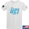 IV8888 Da Uzi Does It T-Shirt T-Shirts Small / White by Ballistic Ink - Made in America USA