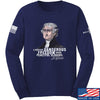 IV8888 Thomas Jefferson Dangerous Freedom Long Sleeve T-Shirt Long Sleeve Small / Navy by Ballistic Ink - Made in America USA