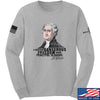 IV8888 Thomas Jefferson Dangerous Freedom Long Sleeve T-Shirt Long Sleeve Small / Light Grey by Ballistic Ink - Made in America USA