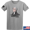 IV8888 Thomas Jefferson Dangerous Freedom T-Shirt T-Shirts Small / Light Grey by Ballistic Ink - Made in America USA