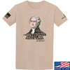 IV8888 Thomas Jefferson Dangerous Freedom T-Shirt T-Shirts Small / Sand by Ballistic Ink - Made in America USA