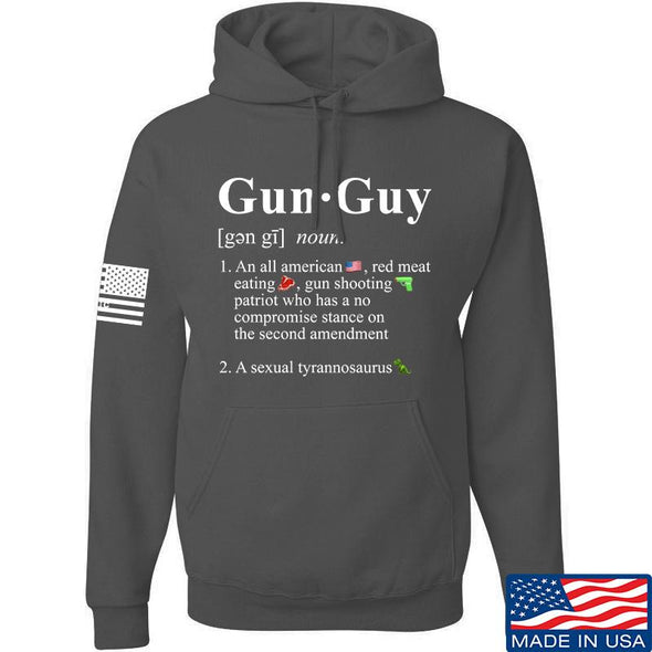 IV8888 Gun Guy Hoodie Hoodies Small / Charcoal by Ballistic Ink - Made in America USA