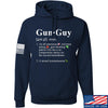 IV8888 Gun Guy Hoodie Hoodies Small / Navy by Ballistic Ink - Made in America USA