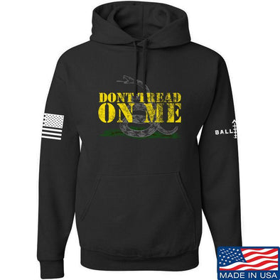 IV8888 Don't Tread on Me Hoodie Hoodies Small / Black by Ballistic Ink - Made in America USA