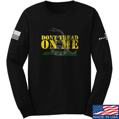 IV8888 Don't Tread on Me Long Sleeve T-Shirt Long Sleeve Small / Black by Ballistic Ink - Made in America USA