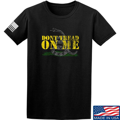 IV8888 Don't Tread on Me T-Shirt T-Shirts Small / Black by Ballistic Ink - Made in America USA