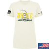 IV8888 Ladies Don't Tread on Me T-Shirt T-Shirts SMALL / Cream by Ballistic Ink - Made in America USA