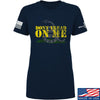IV8888 Ladies Don't Tread on Me T-Shirt T-Shirts SMALL / Navy by Ballistic Ink - Made in America USA