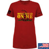 IV8888 Ladies Don't Tread on Me T-Shirt T-Shirts SMALL / Red by Ballistic Ink - Made in America USA