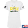 IV8888 Ladies Don't Tread on Me T-Shirt T-Shirts SMALL / White by Ballistic Ink - Made in America USA