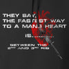 IV8888 Fastest Way to a Man's Heart Hoodie Hoodies [variant_title] by Ballistic Ink - Made in America USA