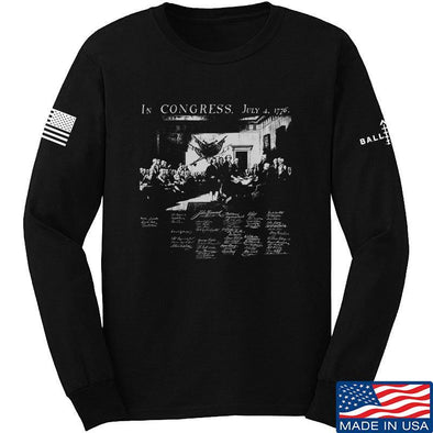 IV8888 Founding Fathers Long Sleeve T-Shirt Long Sleeve Small / Black by Ballistic Ink - Made in America USA