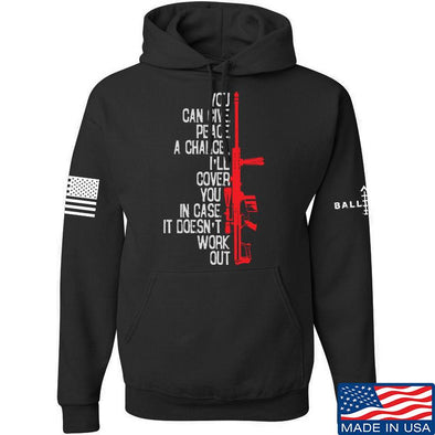 IV8888 Give Peace A Chance Hoodie Hoodies Small / Black by Ballistic Ink - Made in America USA