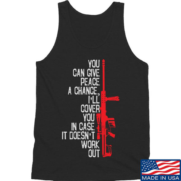 IV8888 Give Peace A Chance Tank Tanks SMALL / Black by Ballistic Ink - Made in America USA