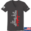 IV8888 Ladies Give Peace A Chance V-Neck T-Shirts, V-Neck SMALL / Charcoal by Ballistic Ink - Made in America USA