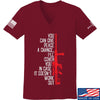 IV8888 Ladies Give Peace A Chance V-Neck T-Shirts, V-Neck SMALL / Cranberry by Ballistic Ink - Made in America USA