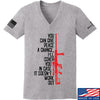 IV8888 Ladies Give Peace A Chance V-Neck T-Shirts, V-Neck SMALL / Light Grey by Ballistic Ink - Made in America USA