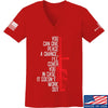 IV8888 Ladies Give Peace A Chance V-Neck T-Shirts, V-Neck SMALL / Red by Ballistic Ink - Made in America USA