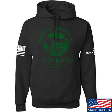 IV8888 Green Dragon Tavern Hoodie Hoodies Small / Black by Ballistic Ink - Made in America USA