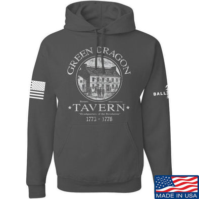 IV8888 Green Dragon Tavern Hoodie Hoodies Small / Charcoal by Ballistic Ink - Made in America USA