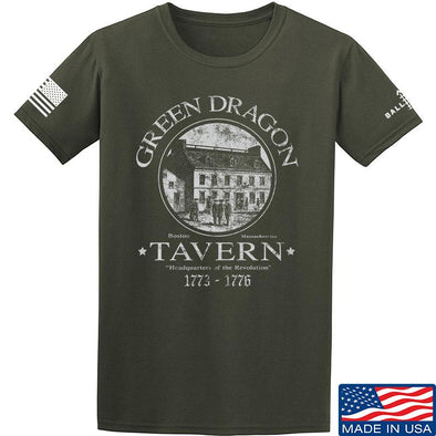IV8888 Green Dragon Tavern T-Shirt T-Shirts Small / Military Green by Ballistic Ink - Made in America USA