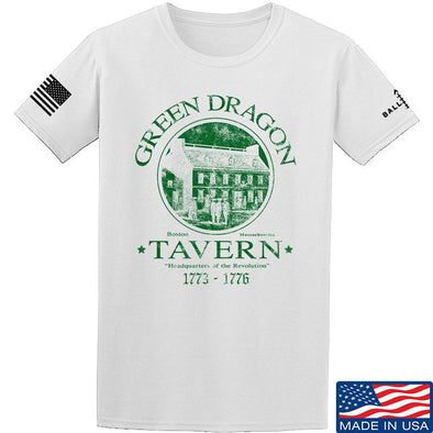 IV8888 Green Dragon Tavern T-Shirt T-Shirts Small / White by Ballistic Ink - Made in America USA