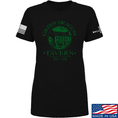 IV8888 Ladies Green Dragon Tavern T-Shirt T-Shirts SMALL / Black by Ballistic Ink - Made in America USA