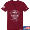 IV8888 Ladies Green Dragon Tavern V-Neck T-Shirts, V-Neck SMALL / Cranberry by Ballistic Ink - Made in America USA