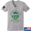 IV8888 Ladies Green Dragon Tavern V-Neck T-Shirts, V-Neck SMALL / Light Grey by Ballistic Ink - Made in America USA