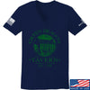 IV8888 Ladies Green Dragon Tavern V-Neck T-Shirts, V-Neck SMALL / Navy by Ballistic Ink - Made in America USA