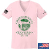 IV8888 Ladies Green Dragon Tavern V-Neck T-Shirts, V-Neck SMALL / Light Pink by Ballistic Ink - Made in America USA