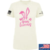 IV8888 Ladies Not a Gun Bunny T-Shirt T-Shirts SMALL / Cream by Ballistic Ink - Made in America USA
