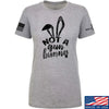 IV8888 Ladies Not a Gun Bunny T-Shirt T-Shirts SMALL / Light Grey by Ballistic Ink - Made in America USA