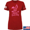 IV8888 Ladies Not a Gun Bunny T-Shirt T-Shirts SMALL / Red by Ballistic Ink - Made in America USA