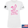 IV8888 Ladies Not a Gun Bunny T-Shirt T-Shirts SMALL / White by Ballistic Ink - Made in America USA