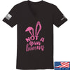 IV8888 Ladies Not a Gun Bunny V-Neck T-Shirts, V-Neck SMALL / Black by Ballistic Ink - Made in America USA