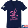 IV8888 Ladies Not a Gun Bunny V-Neck T-Shirts, V-Neck SMALL / Navy by Ballistic Ink - Made in America USA