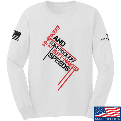 IV8888 Hi-Jinkery and Tom-Foolery Long Sleeve T-Shirt Long Sleeve Small / White by Ballistic Ink - Made in America USA