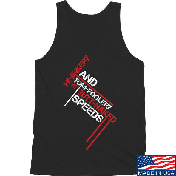 IV8888 Hi-Jinkery and Tom-Foolery Tank Tanks SMALL / Black by Ballistic Ink - Made in America USA