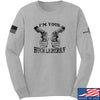 IV8888 Huckleberry Long Sleeve T-Shirt Long Sleeve Small / Light Grey by Ballistic Ink - Made in America USA